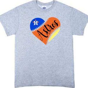 Love Your Houston Astros Tshirt Gray Assort Sizes